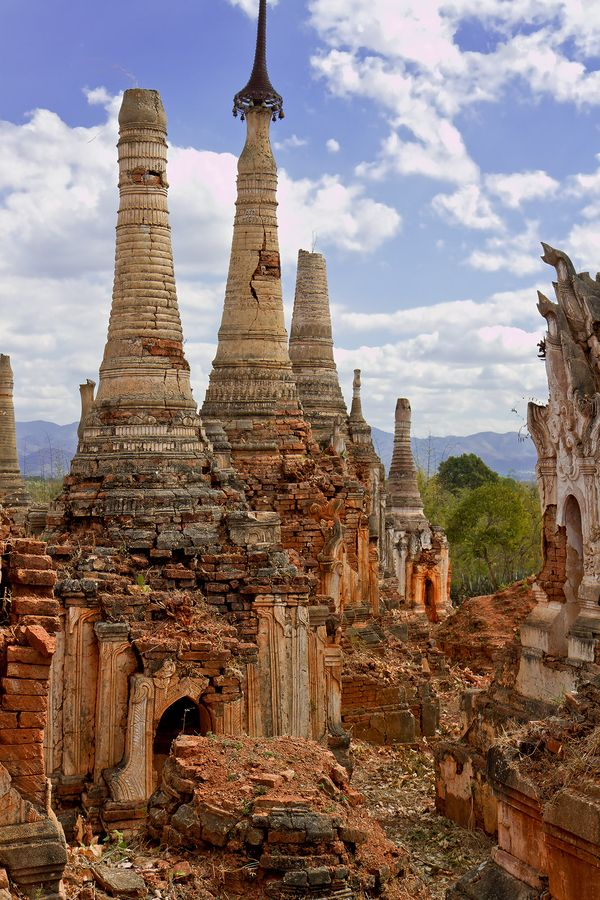 Templo en Ruinas Myanmar o Birmania, en el sudeste asiático.