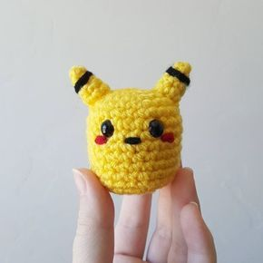 Getting back in the swing of things by making teeny tiny pokemon, starting with Pikachu! ⚡Working in a few minutes of crochet a day keeps me sane #crochet #amigurumi #handmade #yarn #yarnaddict #crochetaddict #crochetersofinstagram #maker #makersgonnamake #crafter #crafty #fiberartist #fiberart #diy #pokemon #pikachu #cute #tiny #widn #justnerdthings #ourmakerlife