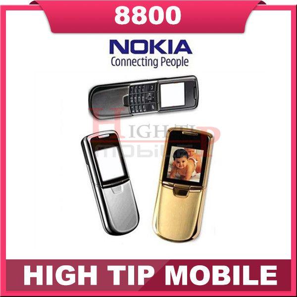 Nokia original 8800 gold handy Englisch oder russische tastatur mit tischladegerät leder tasche strap Freeship Refurbished
