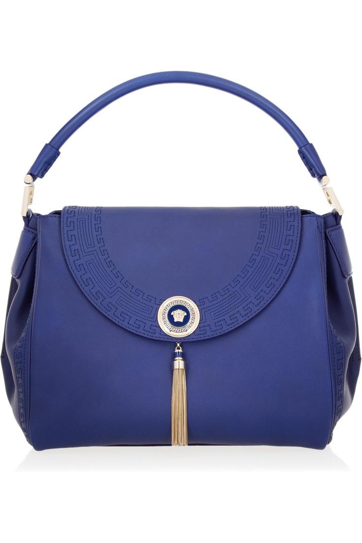 Versace leather hobo bag.