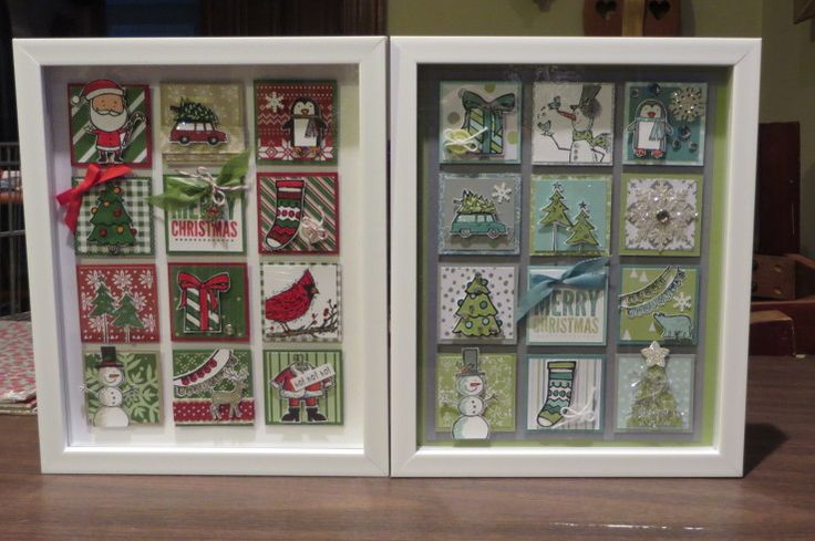 Stamped Christmas Art by Amy Duffner