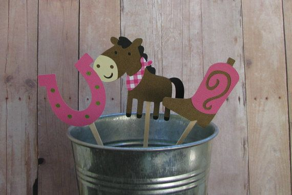 Cowgirl+Western+Theme+Cupcake+Toppers+Set+of+12+by+mypaperpantry,+$9.00