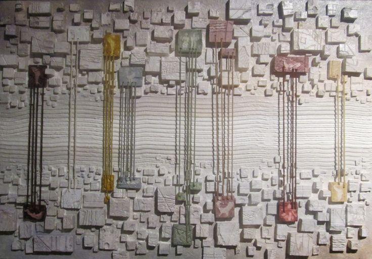 """Legàmi"" cm 144 x 100 Tecnica: polimaterica"