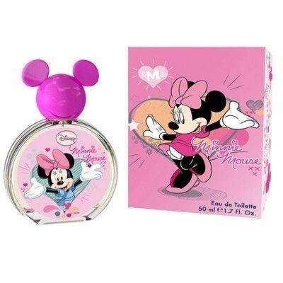 Parfum copii Disney Minnie Mouse Eau de Toilette 50ml pret: 49.00 Lei, Minnie Mouse Eau de Toilette 50ml Aroma usoara de fructe si acorduri de citrice pe o inima de floral de Muguet sunt inmuiata si incalzite cu mosc senzual si maltol in acest parfum.