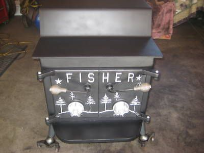 Another antique FISHER, this time it's a Grandma Bear stove - 155 Best Cool Stoves Images On Pinterest Wood Stoves, Wood