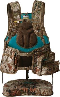 With turkey season just around the corner, this ladies turkey vest is a must have item. Sit in comfort while you wait for that gobbler to come strutting in! Everything that you need to make your hunt successful will be within reach, limiting movement and increasing your success in the field. #KristysGearPicks