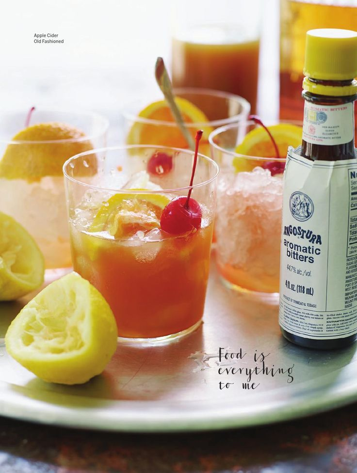 Fall Favorites: Apple cider old fashioned #recipes | Sweet Paul ...