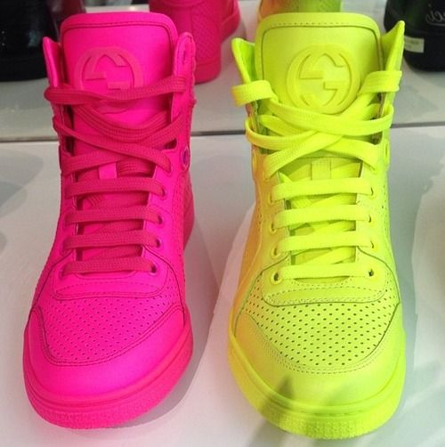Neon Gucci sneakers