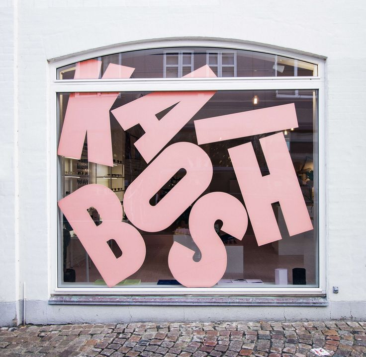 KAIBOSH. Re-Branding, custom made typography and store concept for a Norwegian eyewear brand. – Jens Nilsson