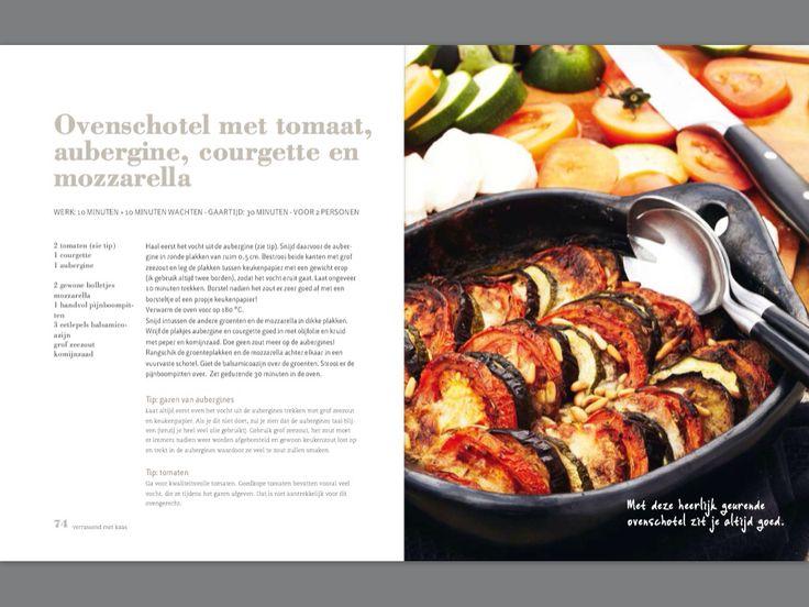 Ovenschotel met tomaat, aubergine, courgette en mozzarella