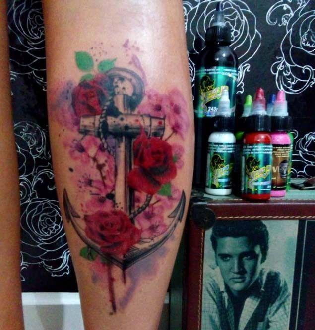 17  idee su Tatuaggi Di Fiori Con Ancore su Pinterest   Tatuaggi ...