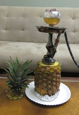 pineapple hookah. this is so creative. Come to Lux Lounge in West Bloomfield, MI to relax with friends at a premiere hookah lounge in an upscale atmosphere! Call (248) 661-1300 or visit www.luxloungewb.com for more information!