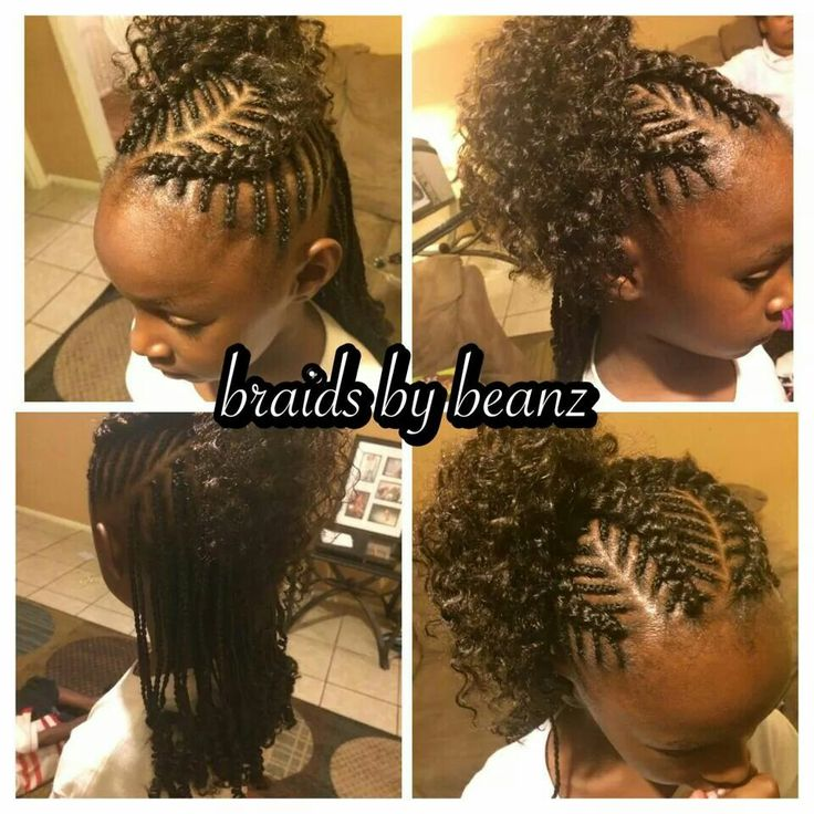 Fish Bone Braids With Kankalon Braided Dipped In Hot Water And Unbraided