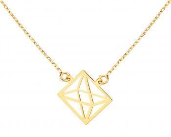 Złoty naszyjnik origami Apart. Cudowna ażurowa biżuteria!