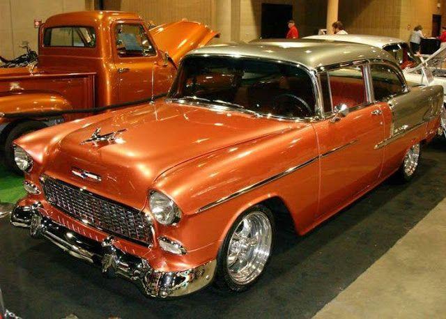 55 Chevy | Heißeste Muskelmaschinen: Klassische Autos, Muskelautos und LKWs   – Dream garage