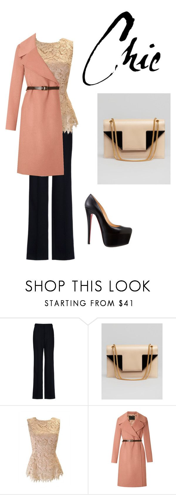 """""""Chic"""" by kellynatalia ❤ liked on Polyvore featuring STELLA McCARTNEY, Yves Saint Laurent, Marc Jacobs and Christian Louboutin"""