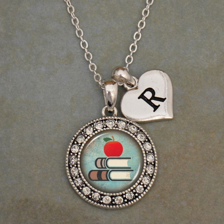 Custom Initial Teacher Artisan Necklace, $9.98 // A fantastic end-of-the-year Necklace for your favorite teacher! The custom initial heart is available in letters A-Z! Such a smart idea!