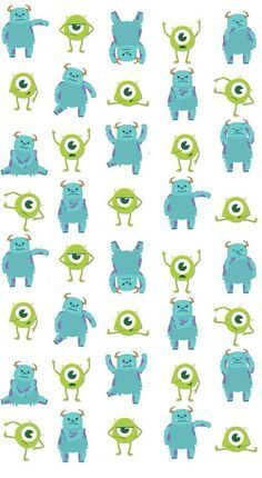 Children's Spaces | Patterns for Babies | Art Print | Illustration | Poster | Decoração Infantil | Padronagem para Bebês | Ilustração para Impressão Monsters Inc Background on We Heart It