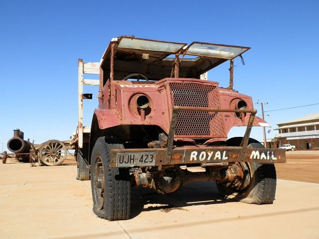 #Australian #Outback hero Tom Kruse's Mail Truck-used on the KILLER Back of Beyond mailrun up the #Birdsville Track!