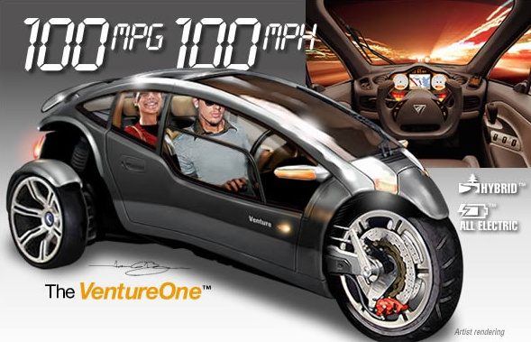 Venture One 3 wheel car