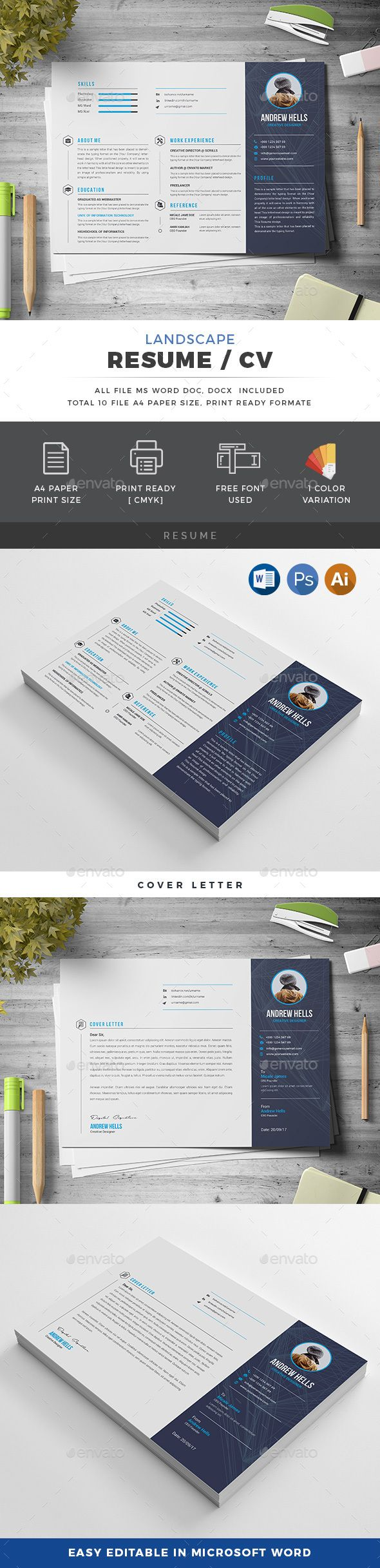 Landscape Resume 104 best Resume images on