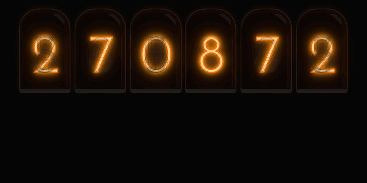 Nixie Tube / Cold Cathode Display Random Number Generator #WebDesign #CodeMyUI