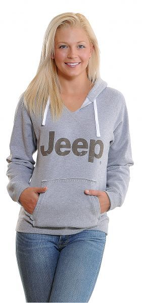 Jeep® Woman's Soft Touch Hoodie in Gray | Jeep Parts and Accessories | Quadratec