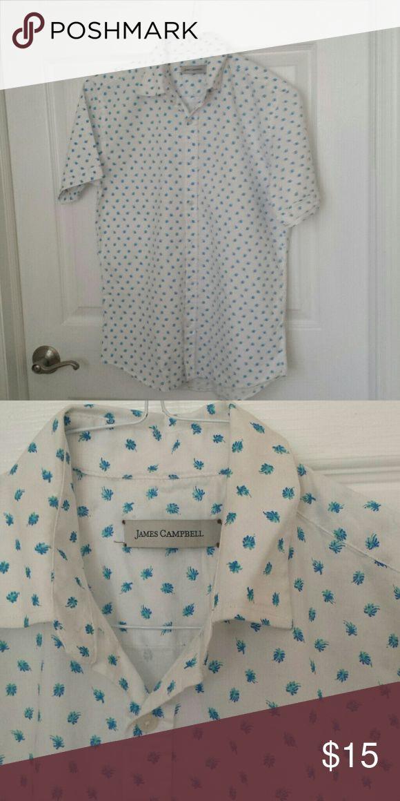 White half sleeve James camell shirt Half sleeve shirt James Campbell Shirts Casual Button Down Shirts