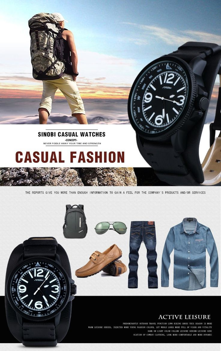 Famous Brand SINOBI 2016 New relogio masculino Casual Fashion Military Men Quartz Watch young Sport Climbing Athletic black Rubber runner white time