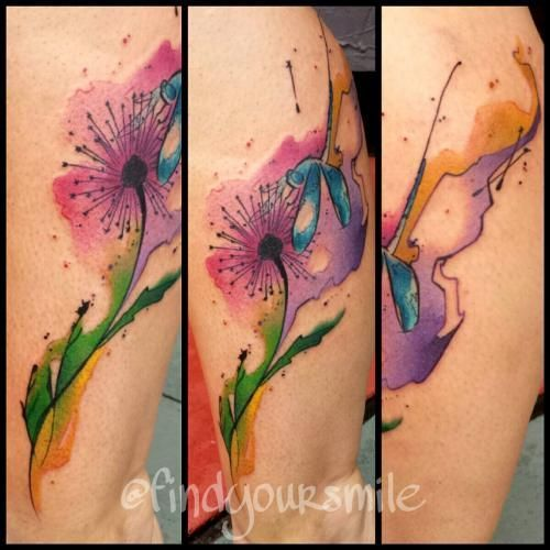 coolTop Watercolor tattoo - Orlando Tattoo Artist – Russell Check more at http://tattooviral.com/tattoo-designs/watercolor-tattoos/watercolor-tattoo-orlando-tattoo-artist-russell/