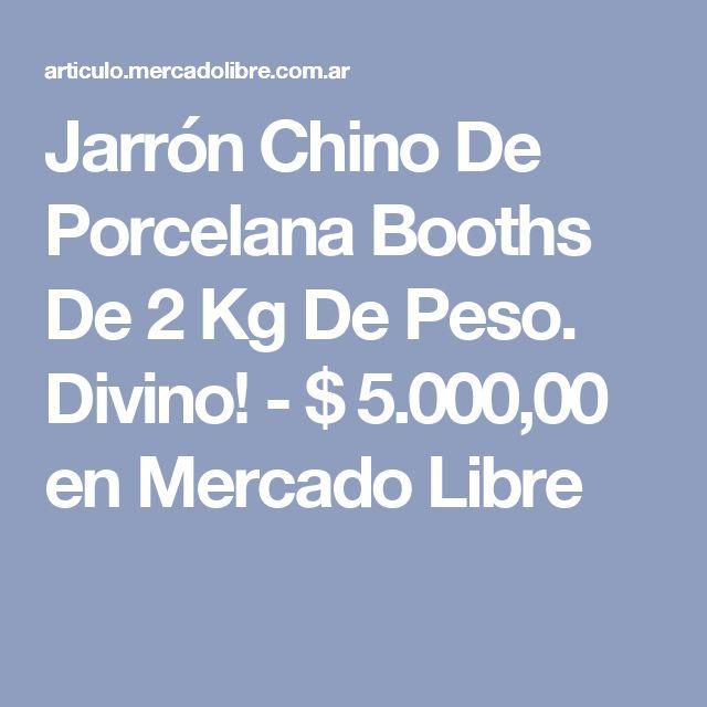 Jarrón Chino De Porcelana Booths De 2 Kg De Peso. Divino! - $ 5.000,00 en Mercado Libre