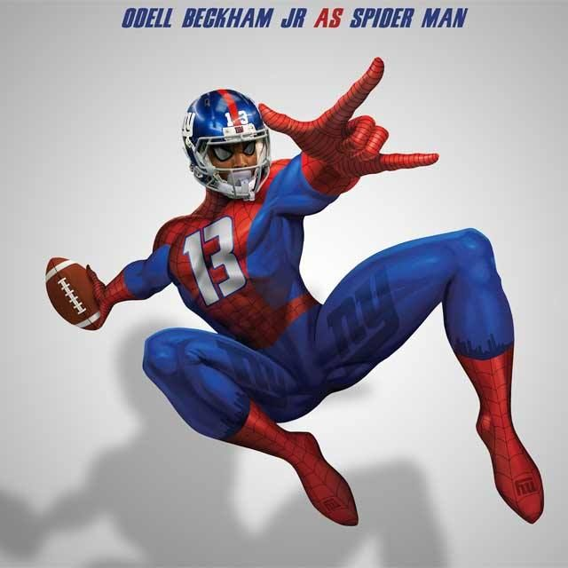 """The folks at NFL Memes turned """"NFL Stars into Superheroes"""" and Odell got the spidey treament! View more NFL stars:"""