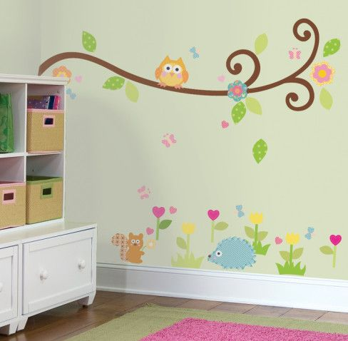 Happi Scroll Branch Peel & Stick Wall Decals Wall Decal - AllPosters.ca