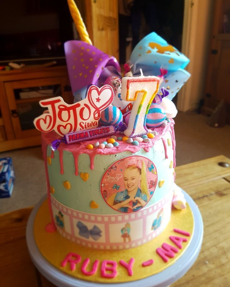Jojo Siwa drip cake Jojo siwa birthday, Jojo siwa