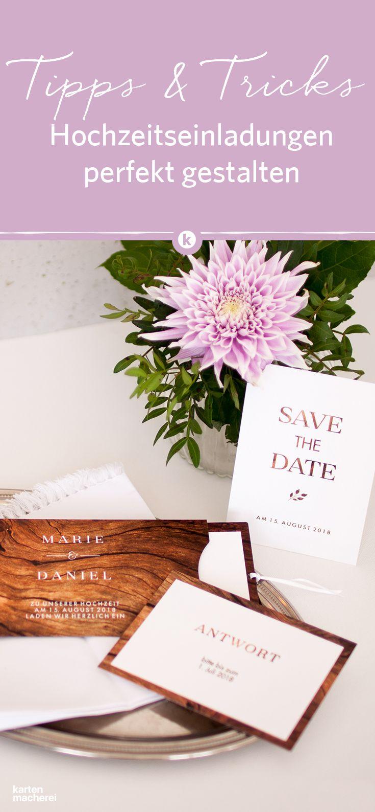 Worauf solltet ihr bei eurer Hochzeitseinladungachten? Welche Informationen sind unverzichtbar? Und wann sollten die Einladungskarten verschickt werden? Wir haben die wichtigsten Tipps zusammengefasst.  #papeterie #paperlove #wedding #hochzeit #hochzeitspapeterie #tischdecoration #weddingdecoration #einladung #hochzeitseinladung #weddinginvitation #invitation #kartenmacherei