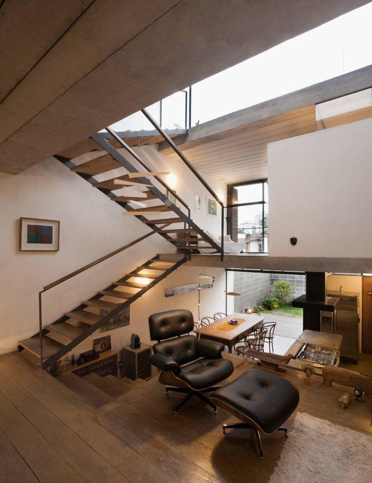Lounge area, Juranda House, Sao Paulo, Brazil, designed by Apiacas Arquitetos
