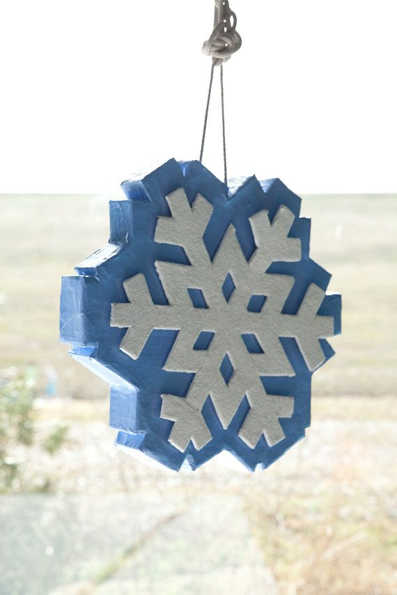 Frozen inspired Enchanted Snowflake Pinata by TheMerryPopShop on Etsy, $120.00