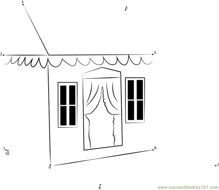 Dexton Feigi Princess Playhouse dot to dot printable worksheet - Connect The Dots