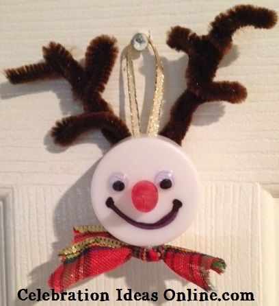 Easy #Christmascraft.. make Rudolph from a tealight. Adorable #Christmasornament for your tree or to give as a gift!
