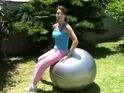 Strengthen and Tone with this Fast Ab Workout using exercise ball
