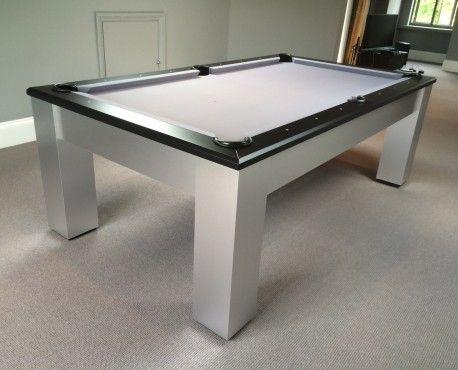 Olhausen Madison bespoke modern American pool table.  Available in oak, maple, cherry, walnut or brushed aluminium. Shop here: http://www.snookerandpooltablecompany.com/pool-tables/american-pool-tables/modern-bespoke-american-pool/olhausen-madison.html