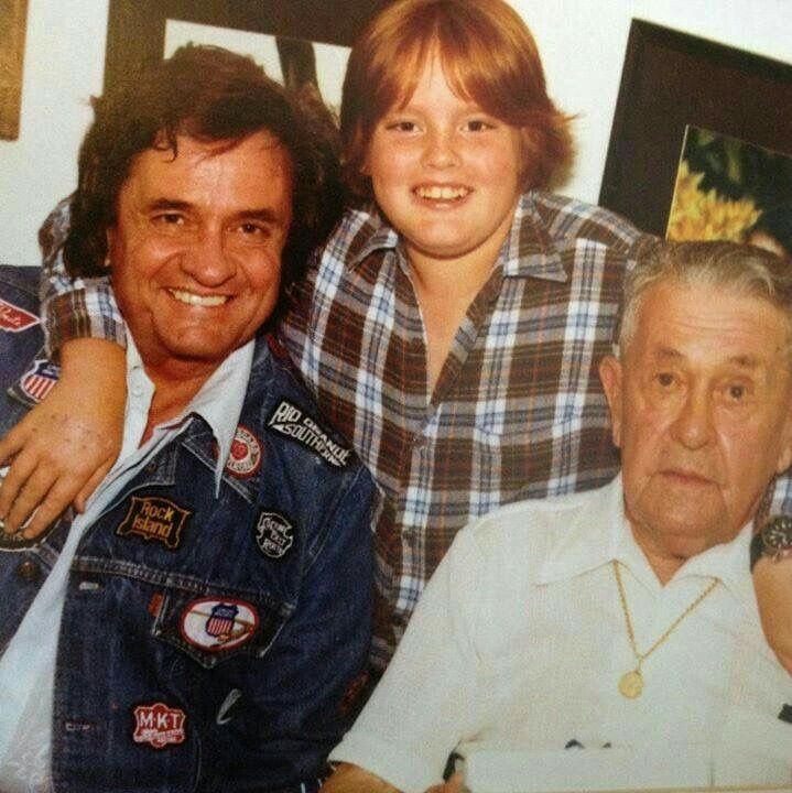 Johnny Cash, John Carter Cash and Grandpa Cash