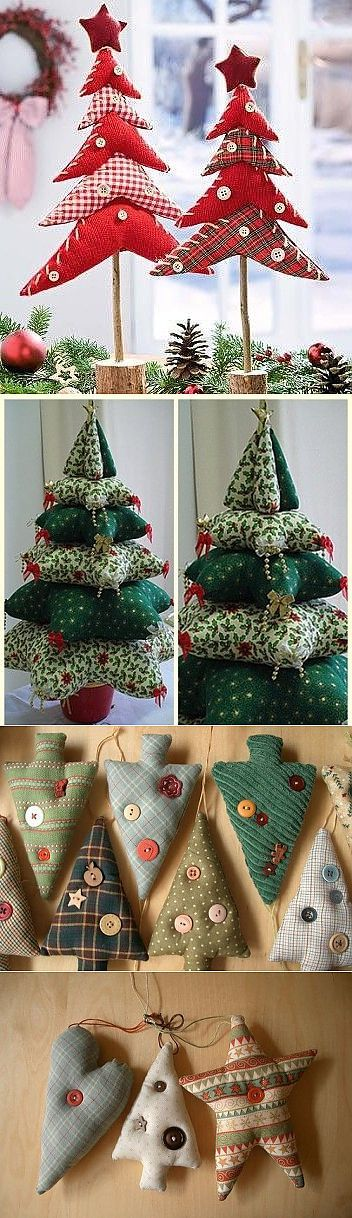 The 25+ best Fabric christmas trees ideas on Pinterest | Burlap ...