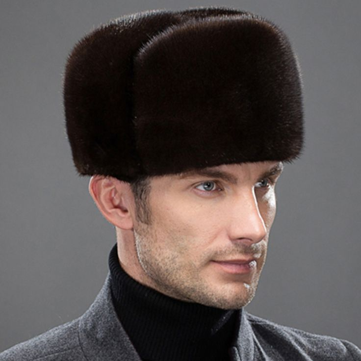 NEW Natural Color Fur Hat Siberian Style real fur Lei Feng Hat Russian Ushanka Thickening Warm Winter Hats For Men Free Shipping