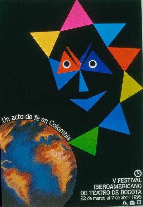 Diseño del cartel para el V festival Iberoamericano de teatro por Marta Granados visita nuestro artículo sobre la historia del diseño gráfico en colombia: http://www.publistudioltda.com/historia-del-diseno-grafico-en-colombia/