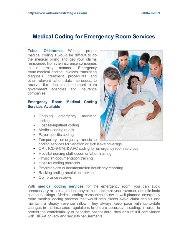 Emergency room medical coding services help you submit claims promptly and obtain reimbursements on time. Hire a medical coding firm that offers secure emergency room medical coding services.