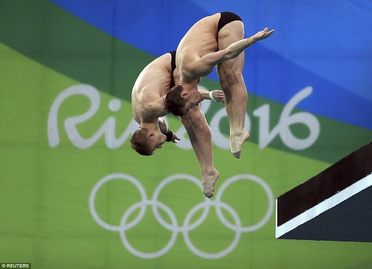 David Boudia and Steele Johnson winning silver medal in Men's Synchronized Diving. Rio 2016 Olympics