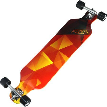 Atom Drop Deck Longboard - 39 Inch (Orange Geo)