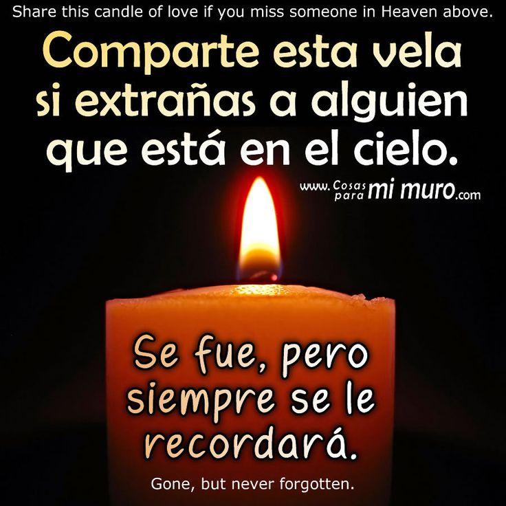 Comparte la vela: http://www.shoshan.cl/vela_fallecidos.html  1 de noviembre, Día de los Muertos (Día de Todos los Santos, y de los Fieles Difuntos). Postales para este día en: http://www.shoshan.cl/luto_fallecidos.html