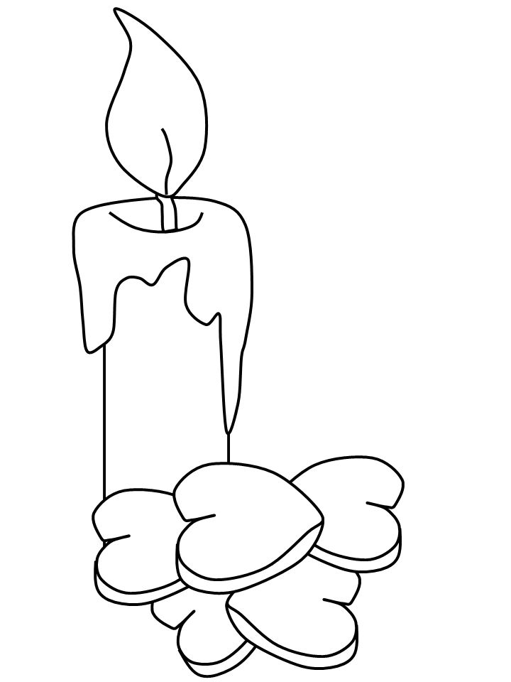 Birthday Candle Coloring Pages Printable